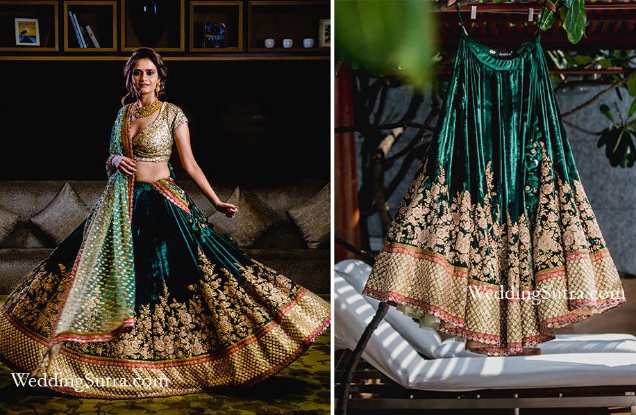 06c9a76359e42 16 Times Real Brides Rocked Green Lehengas | Fashion | Bride ...