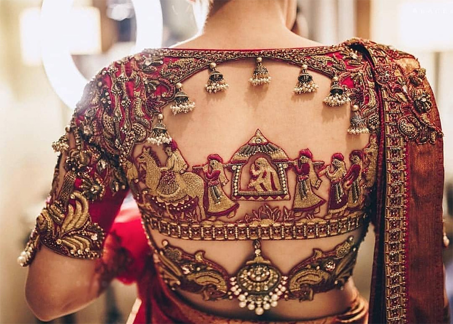 21 Blouse Designs To Up Your Bridal Look