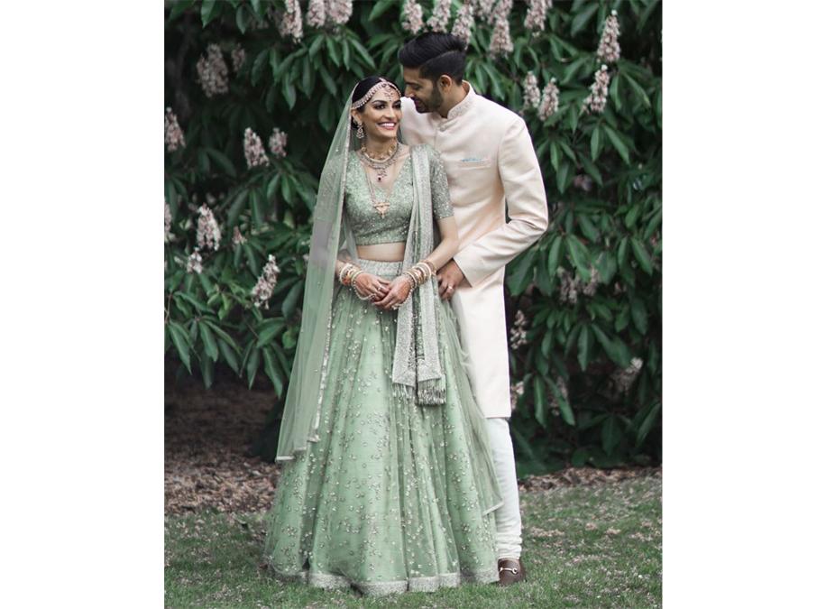 20 Times Real Brides Rocked Green Lehengas Fashion Bride