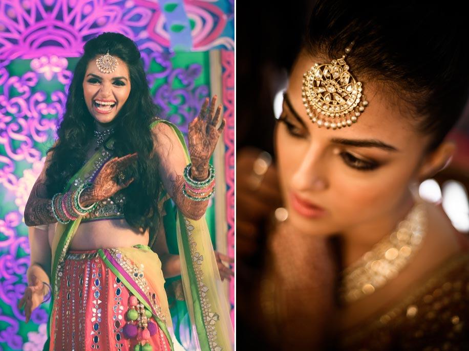 Bridal Hairstyle Pics For Mehndi : 20 ways to wear the maang tikka bridal fashion weddingsutra.com