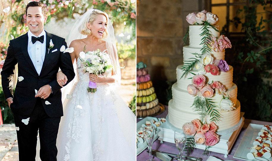 Anna Camp Wedding.Anna Camp Skylar Astin Wedding Cakes Celebrity Cakes