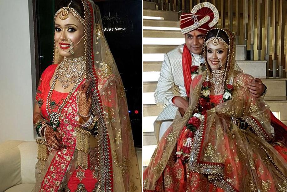 Image result for Hrishitaa Bhatt and Anand Tiwari wedding pics