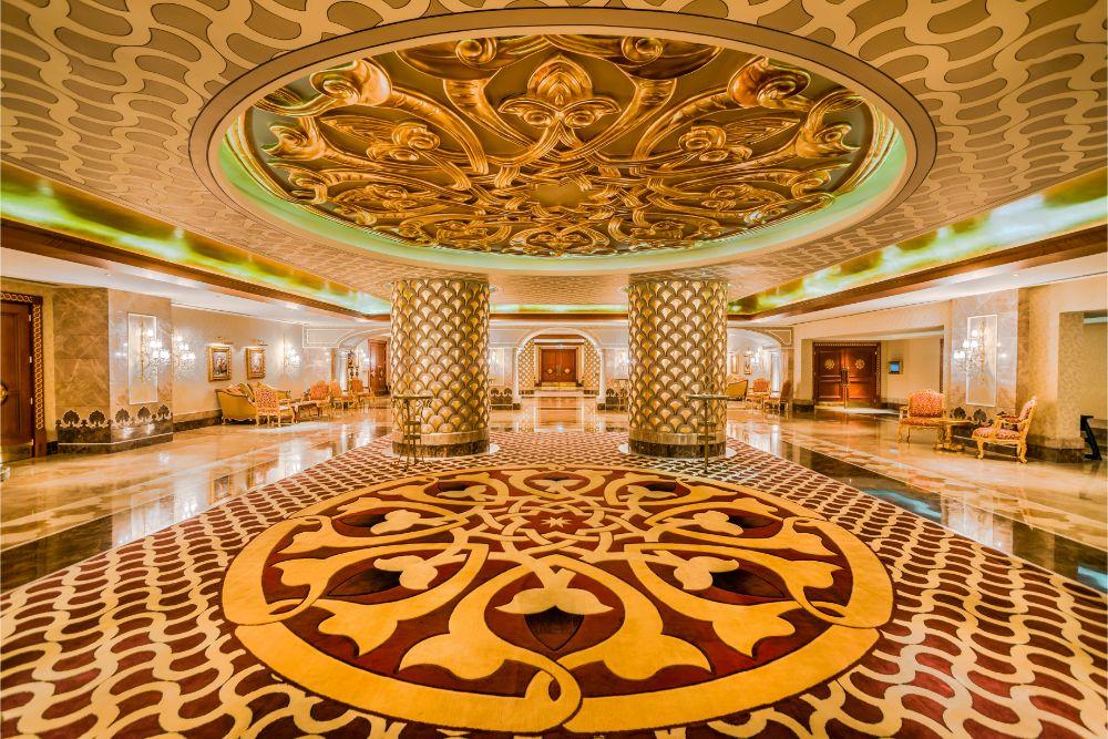 interior design of hotel reception venues