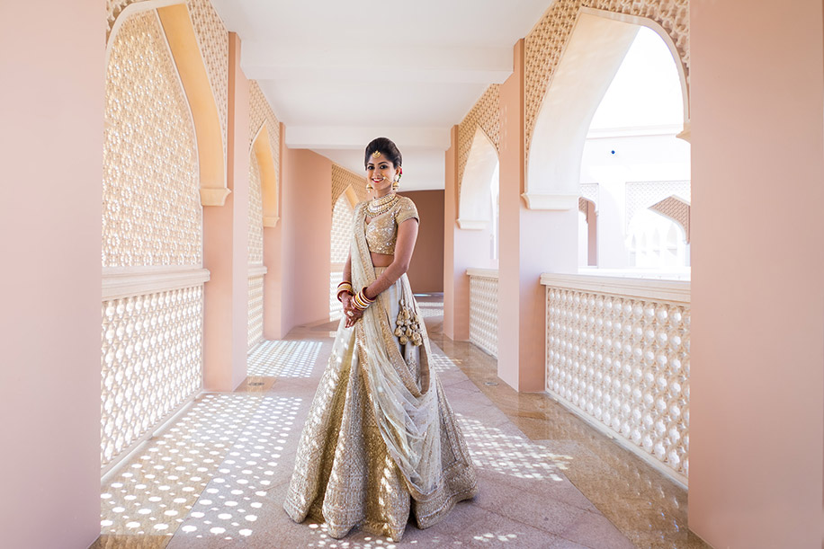 15 Ways to Sparkle in a Gold Lehenga at your Wedding