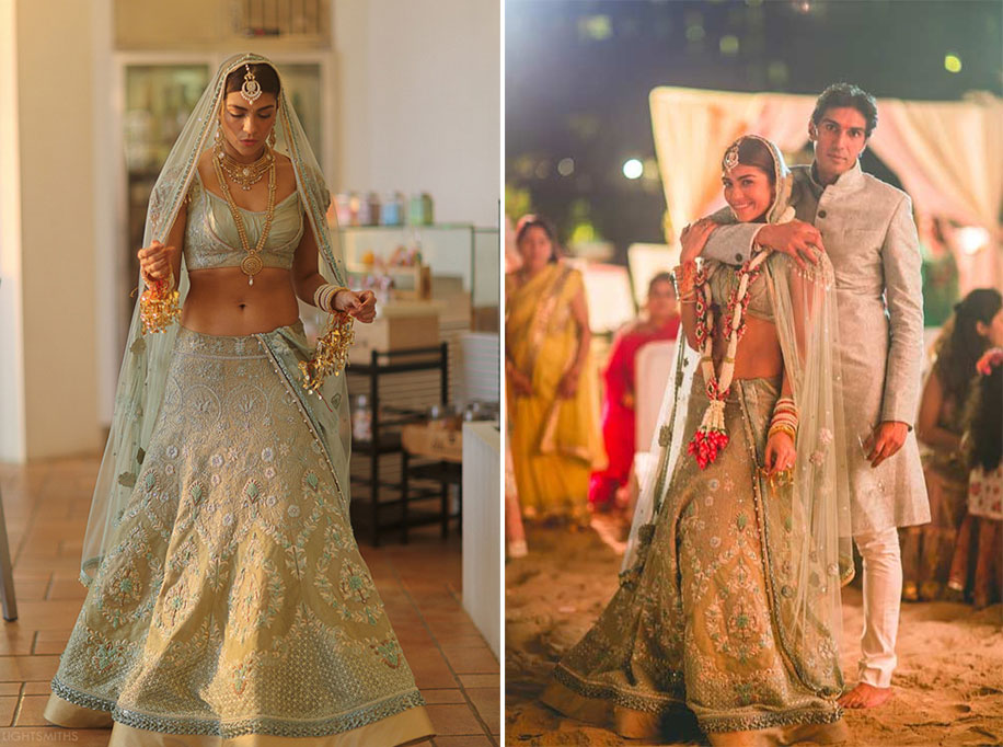 Green Bridal Lehengas