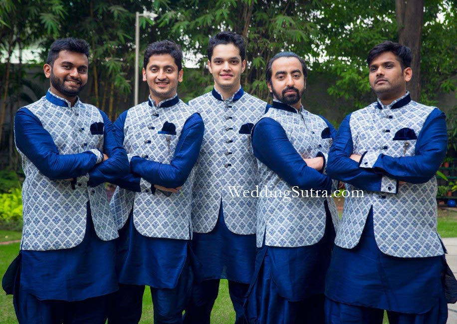 Aayush and his groomsmen