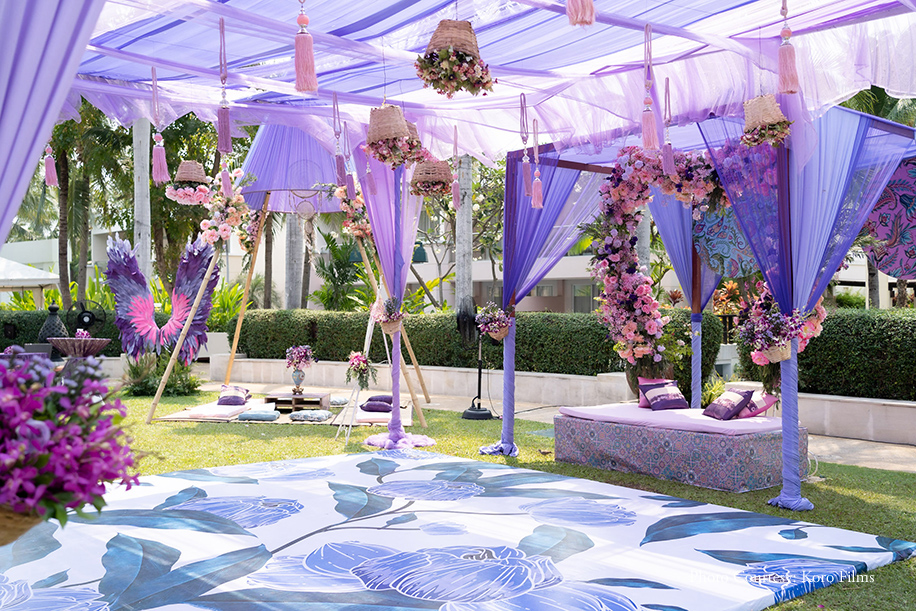 Mehendi floral Stage by Keeran the Wedding Planner