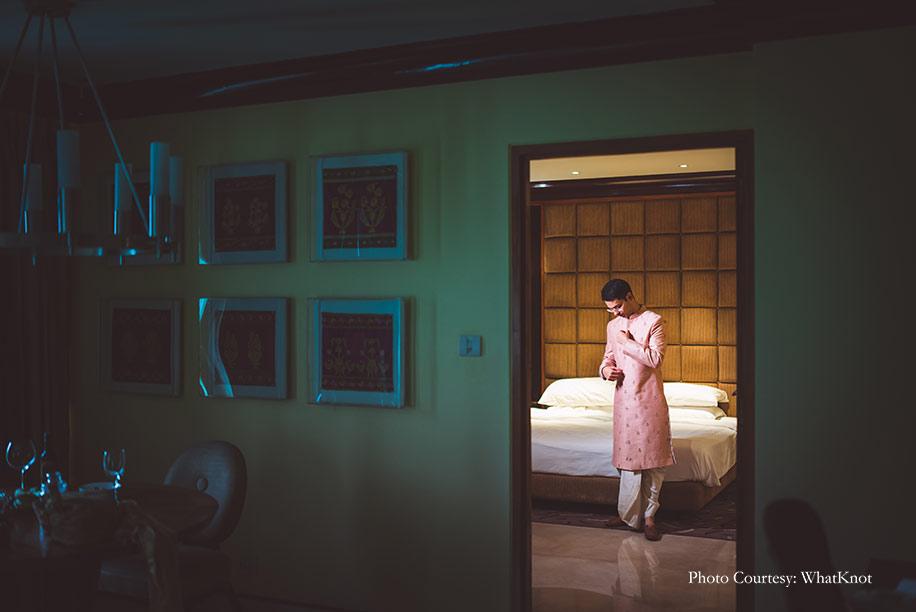 pink sherwani for eco-friendly wedding