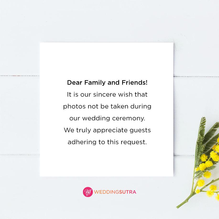 smartphone free wedding