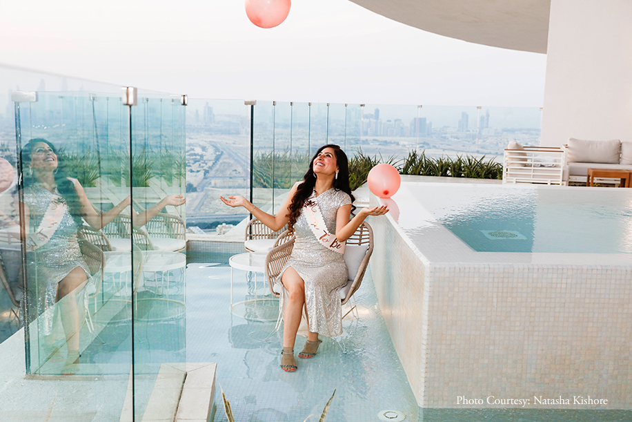Dubai's lovely winter and city views were highlights of Sara's bachelorette soiree