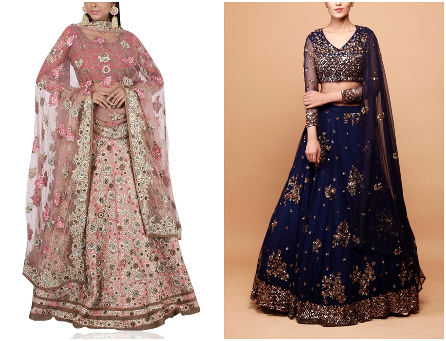 Wedding Lehengas at Aashni + Co store in London UK