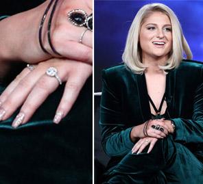 meghan trainor celebrity engagement rings celeb weddings