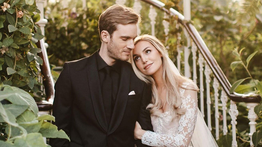 PewDiePie and Marzia Bisognin, London, UK