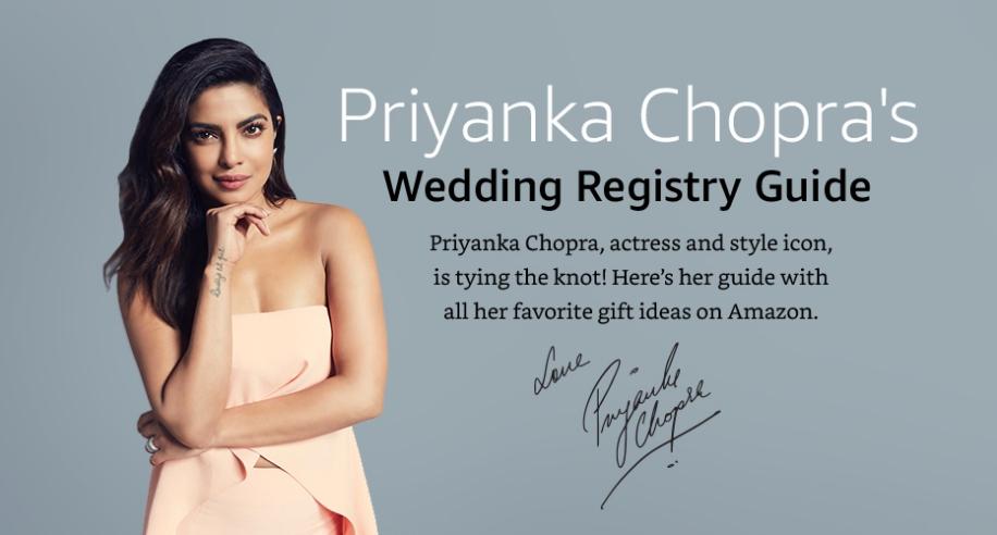 Priyanka Chopra's Amazon Wedding Registry