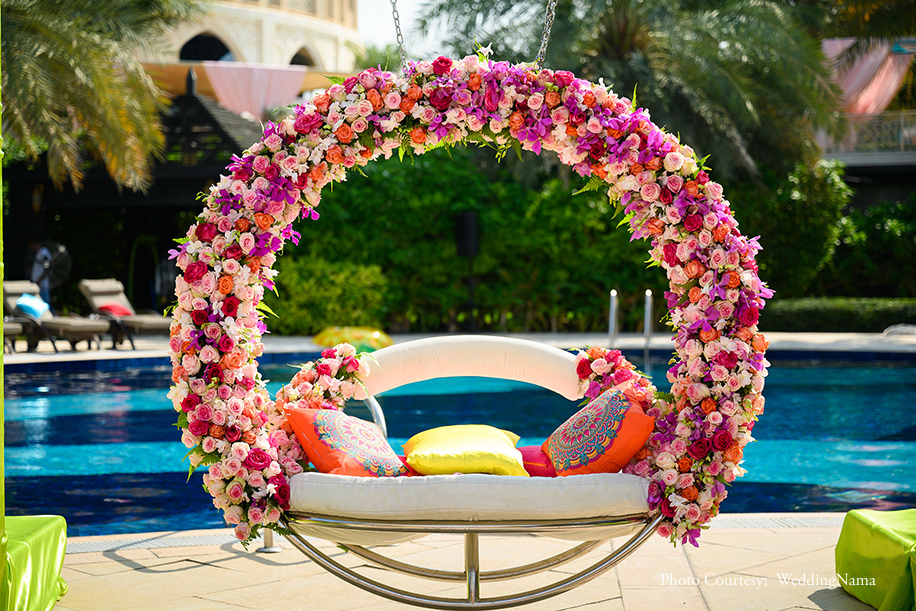 Mexican Fiesta celebration with colorful floral decor