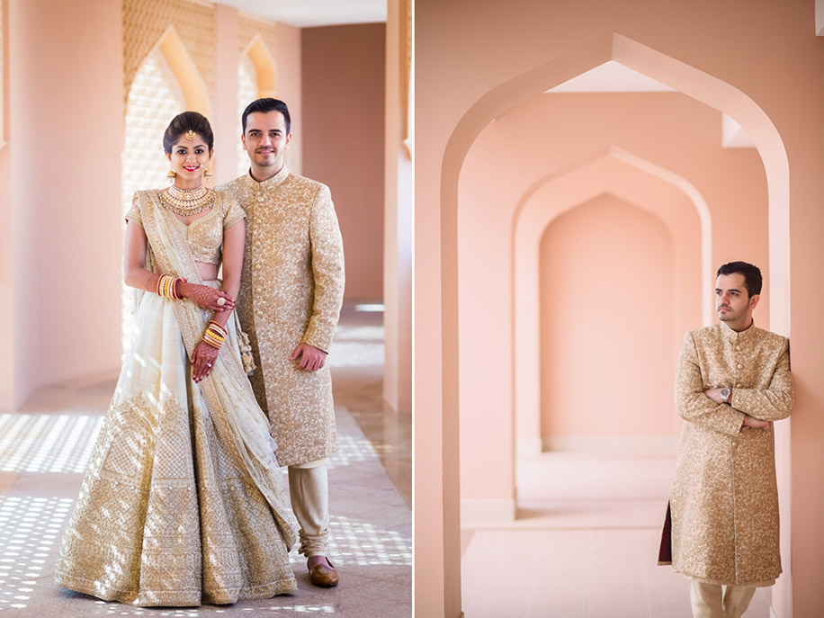 Anusha and Dhrumil, Shangri-La Barr Al Jissah Resort and Spa, Oman