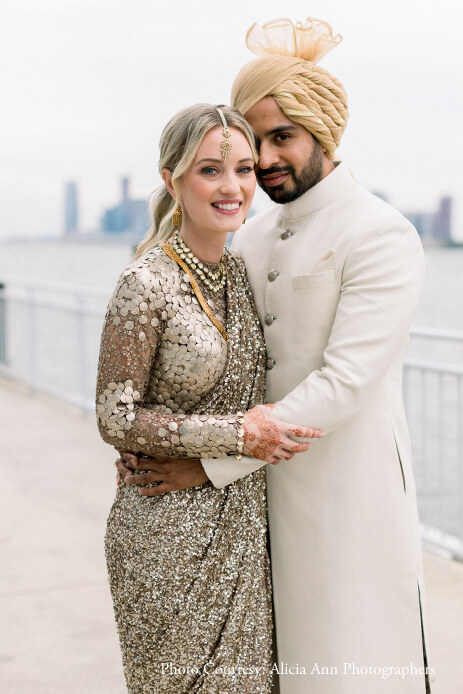 Megan and Rohit, Chelsea Piers Lighthouse, New York