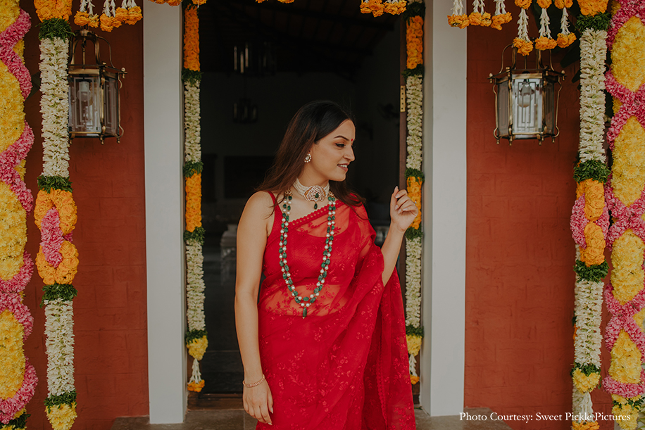Sabyasachi Red Saree