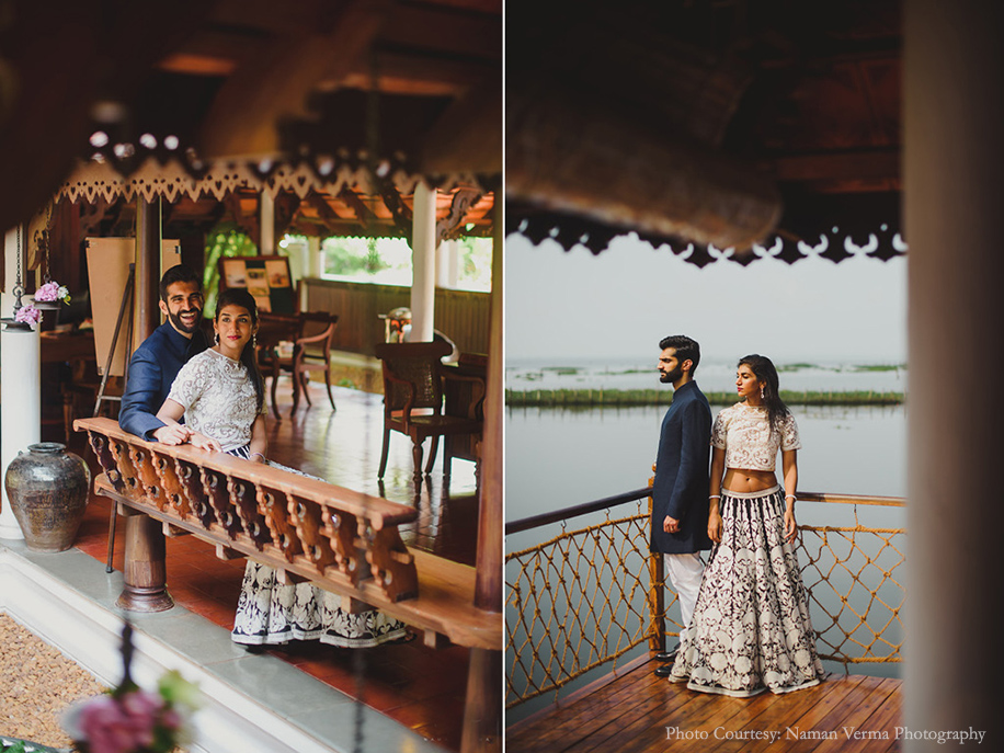 Neeraj and Maya, Kumarakom Lake Resort, Kerala