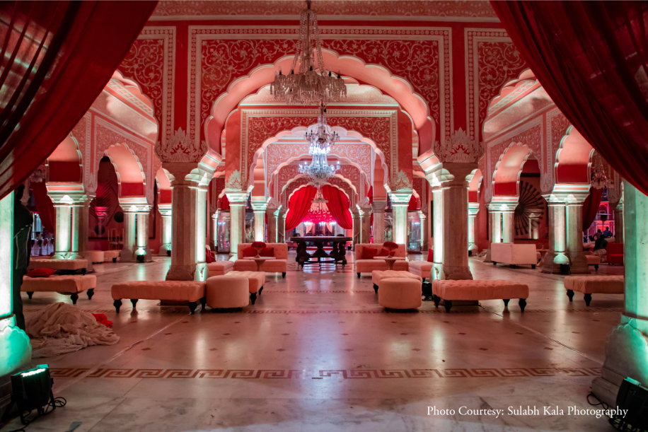 Nikita and Prateek, City Palace, Jaipur