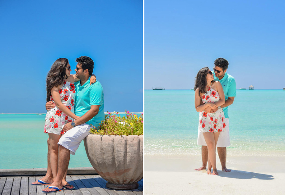 Eisha and Sharan, Maldives