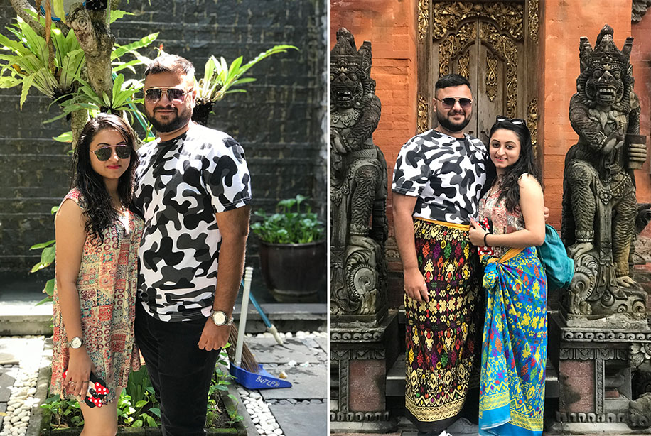 Nirali and Darshan, Bali, Indonesia