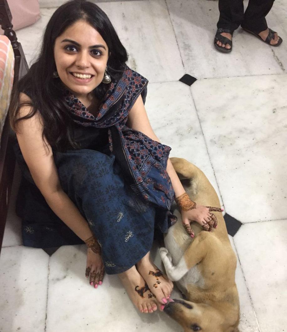 Ragini Mehra's Mehndi Design with Paws